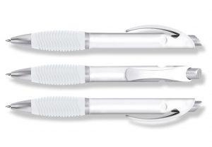 Kugelschreiber, Druckkugelschreiber, H1009 Grip, weiß