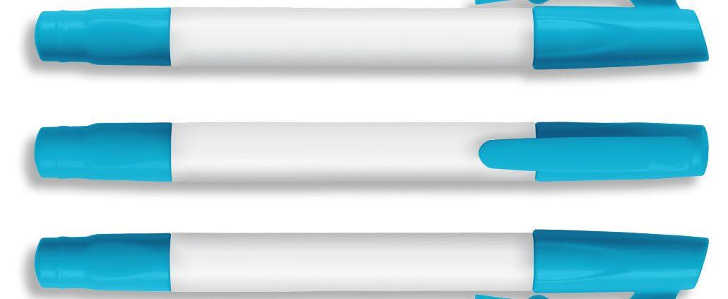 Textmarker, Wax-Marker, H6004, neon blue