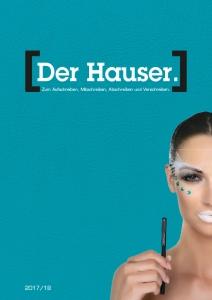 Titelseite HAUSER Katalog 2017/18